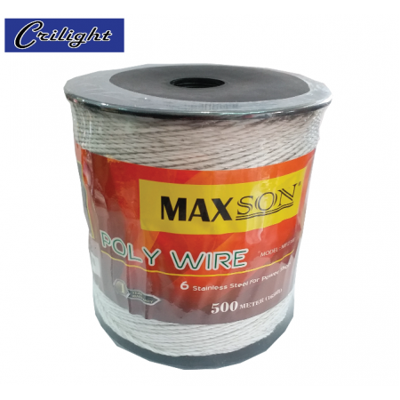 #MP23W (WHITE) MAXSON POLY WIRE (500 METER)