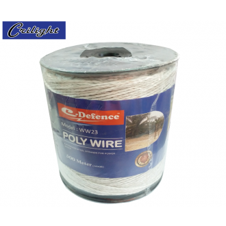 #WW23 (WHITE) 500M E-DEFENCE POLY WIRE