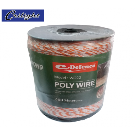 #WO22 (ORANGE/WHITE) 500M E-DEFENCE POLY WIRE