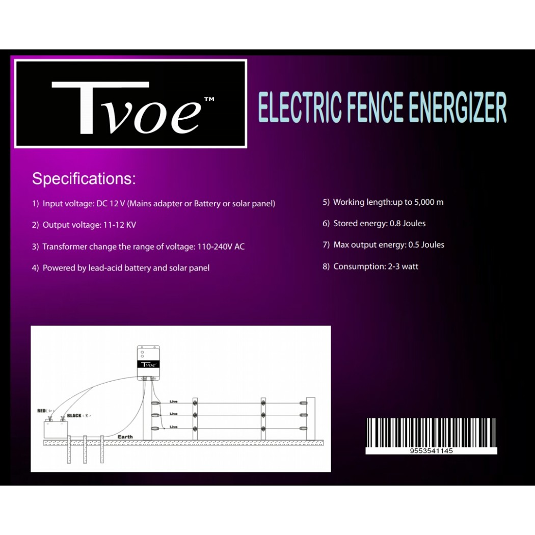 Tv805 Tvoe Energizer 05 Joule Power Output Mains Powered Energizers