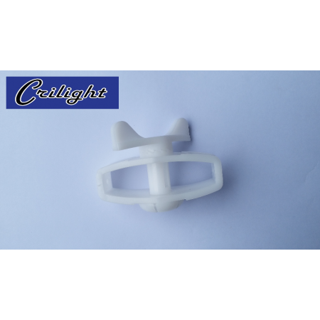 PVC In Line Strainer With Narrow Gear (White)