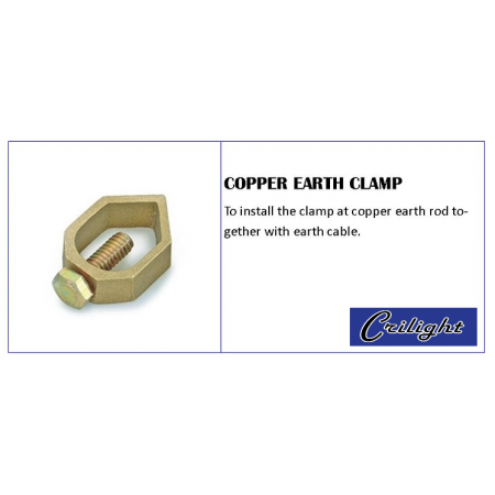 Copper Earth Clamp